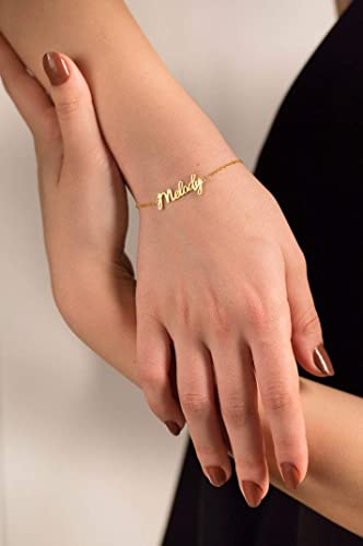Mothers Day Gift for Wife Personalized Bracelet Custom Date Bracelet Name Bracelet Rose Gold Color Bracelet