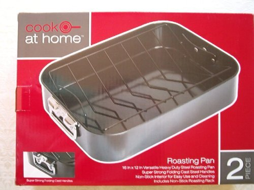 Cook at Home Roasting Pan, Black
