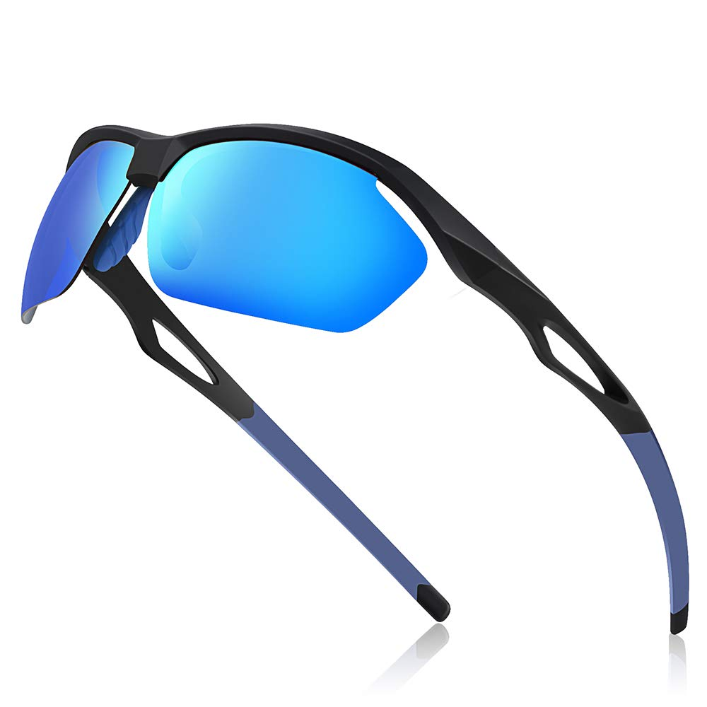 Avoalre® Sport Gafas de Sol para Hombre Gafas Unisex Conducto polarizado TR90 Super Light Light UV400 CE Certified - Azul