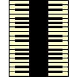 "MYBECCA's Musical Theme Area Rugs PIANO Design Black & White Contemporary Carpet (Large 5'2"" x 6'11"")"