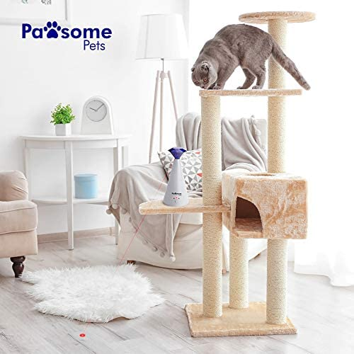 Pawsome Pets Automatic Laser Cat Toy with Free Bonus Squeaky Cat Toy Mouse   Pet Laser Pointer for Cats   Interactive Cat Chase Toys   3 Speed Modes   Auto Lazer Shut Off 7