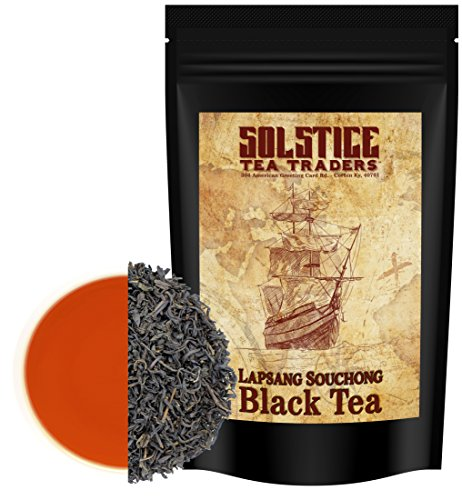 Mild Pipe Tobacco - Lapsang Souchong Traditional Smoked Loose Leaf Tea (12 ounces), Chinese Pine-Smoked Black Tea Leaves Makes 130+ Cups of Tea