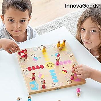 InnovaGoods- Juego de Mesa de Madera con Animales Pake 18 Piezas (IGS IG815202): Amazon.es: Juguetes y juegos