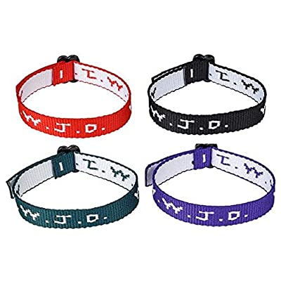 Rhode Island Novelty W.W.J.D. Webbing Bracelets Set of 48: Toys & Games