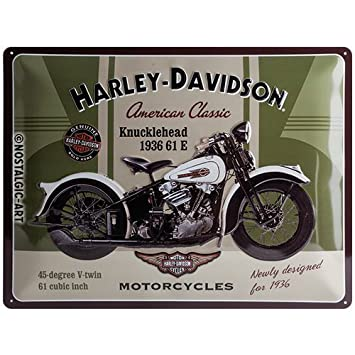 Harley Davidson Retro Blechschild Brick Wall 30 x 40 cm neu