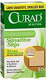 Curad Sensitive Skin Bandages, 50 ct