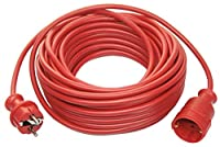 as - Schwabe 51013 Verlängerungskabel 10m Leitung in Rot , 230 Volt