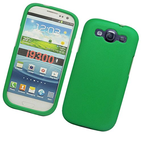 Galaxy S3 Case, Eagle Cell Rubberized Hard Snap-in Case Cover for Samsung Galaxy S3 GT-i9300, Green