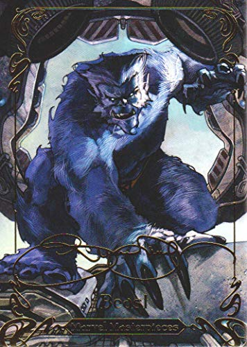 2018 Upper Deck Marvel Masterpieces Gold Foil Signature Series Parallel Card #52 Beast Tier 2 ()