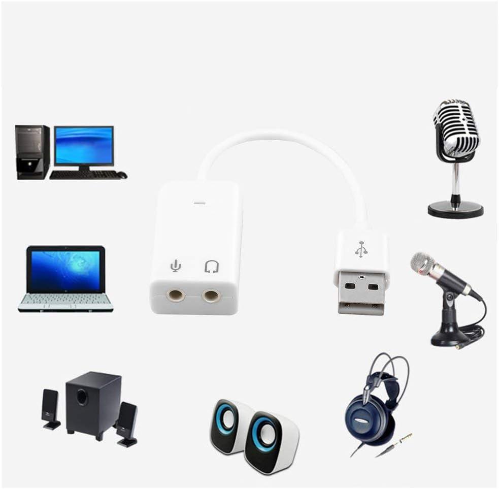 HOT SALENEW PC Desktop USB 2.0 3D Virtual Channel adaptador de tarjeta de sonido para Windows 7 EN STOCK