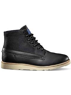 78c52a0fa1 Vans Mens Breton Vibram Leather Mid Boot - Black  Amazon.co.uk ...