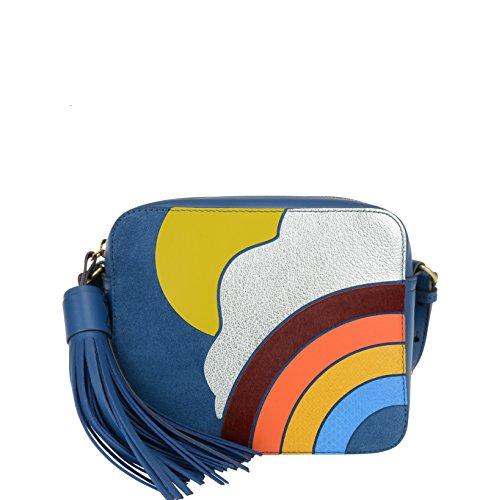 Anya Hindmarch Mujer 936576 Multicolor Cuero Bolso De Hombro