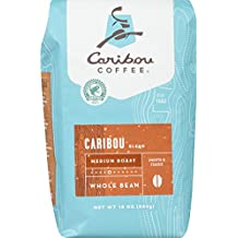 Caribou Coffee, Caribou Blend, Whole Bean, 12 oz. (2 Pack), Smooth & Balanced Medium Roast Coffee Blend from the Americas & Indonesia, with A Rich, Syrupy Body & Clean Finish; Sustainable Sourcing