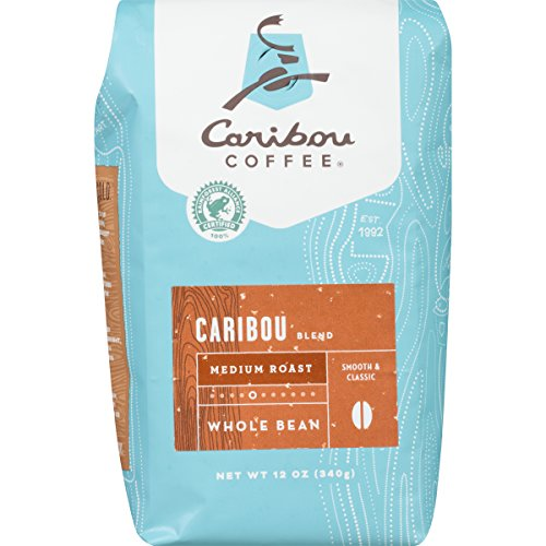 Caribou Coffee, Caribou Mingling, Whole Bean, 12 oz. (2 Pack), Smooth & Balanced Medium Roast Coffee Blend from the Americas & Indonesia, with A Rich, Syrupy Council & Clean Finish; Sustainable Sourcing