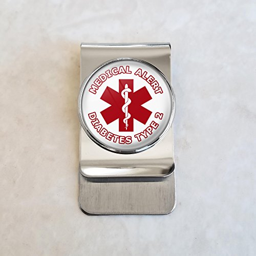 Diabetes Type 2 Steel Money Clip by CreepyHollowDesigns