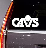 NBA - Basketball - Cleveland Cavaliers - Auto Sticker - Auto Decal - (color variations available) - Window Sticker Decal for Car Truck SUV Motorcycle 5