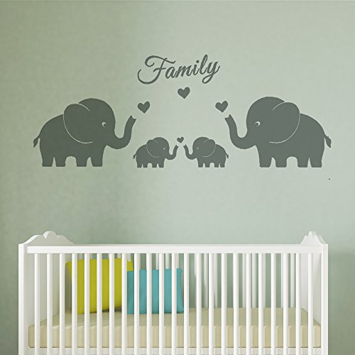 Chic MAFENT 4 Cute Elephants Family Wall Decals Parents And Twins Elephant  Wall Decal For Baby
