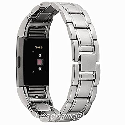 Lwsengme Metal Bands for Fitbit Charge 2,Charge2 Tracker Replacement. Magnet Strap Lock Large Small