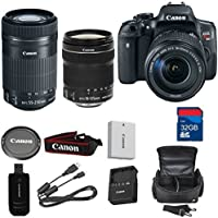 Canon T6i Digital SLR EF-S 18-135mm IS STM + Canon EF-S 55-250mm f/4-5.6 IS STM Lens + High Speed 32GB Memory Card + High Speed Reader + Wi-Fi Enabled - International Version