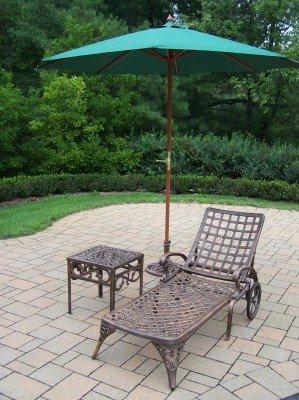 Amazon.com: Oakland Living Elite aluminio fundido 1 chaise ...