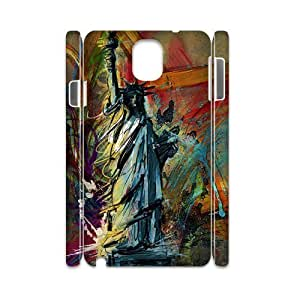 Customized Phone Case with Hard Shell Protection for Samsung Galaxy Note 3 N9000 3D case with The statue of Liberty lxa#261845