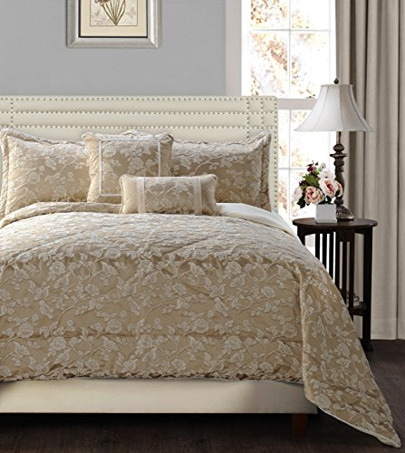 Jennifer Taylor Home 5 Piece Plush and Luxurious Comforter Set