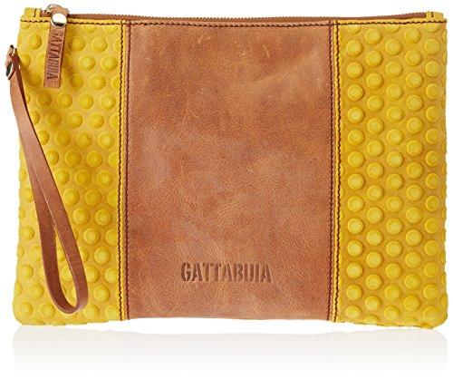 Gattabuia Valeria, Borsa a Mano Donna, 29x22x2,5 cm (W x H x L) Multicolore (Caramello/Girasole)