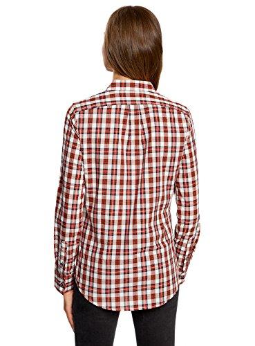 Rosso oodji Donna Cotone in Decorazione Ultra 1245c Colletto su Camicia con wOqgwfxzR