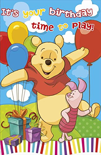 (Winnie the pooh It's Your Birthday Time To Play Open Anyone New Greeting)