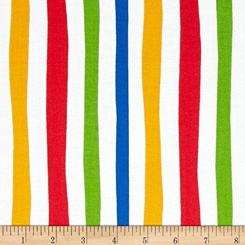 (Robert Kaufman Dr. Seuss ABC Stripe Adventure Fabric by The Yard,)