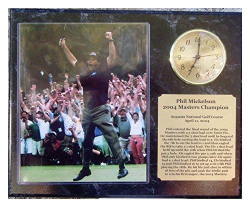 Phil Mickelson 2004 Masters 8x10 Photo Clock Plaque with engraved nameplate