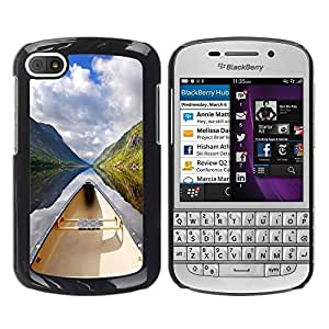 "For BlackBerry Q10 , S-type Naturaleza Hermosa Forrest Verde 130"" - Arte & diseño plástico duro Fundas Cover Cubre Hard Case Cover"