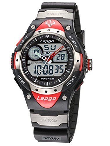 UNIQU Highquality Pasnew Water-proof Dual Time Boys Girls Sport Watch Wrist Watch N5 by PASNEW