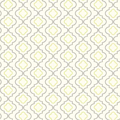 York Wallcoverings KH7087 Bright's Small Trellis Wallpaper, Yellows
