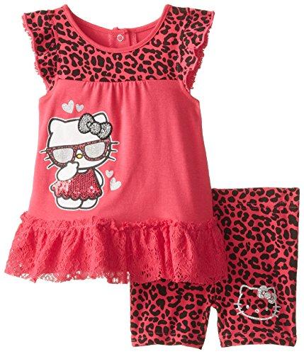Hello Kitty Baby Girls' Fashionable 2 Piece Bike Set, Deep Fuchsia, 24 Months