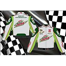 Dale Earnhardt Jr. Diet Mountain Dew Mens Grey Twill Nascar Jacket by JH Design