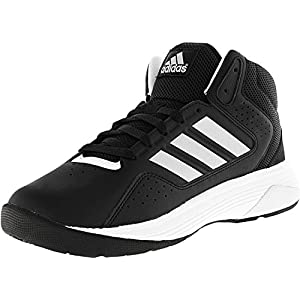 Adidas Neo Men's Cloudfoam Ilation Mid Wide Basketball Shoe, Black/Matte Silver/White, 8 W US