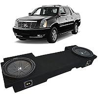Fits 2002-2013 Cadillac Escalade EXT Underseat Kicker CompR CWR12 Dual 12 Sub Box Enclosure - Final 2 Ohm