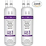 White ELASUN Replacement Refrigerator Water Filter for 10295370(a) Kenmore 46-9081 46-9930 2-PACK