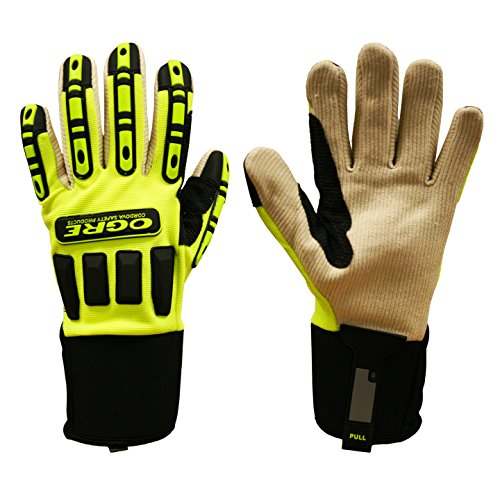 7720 Ogre Canvas Activity-Mechanics Gloves 3 pairs - Extra (Corded Canvas Glove)