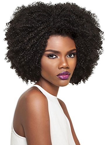 Outre Synthetic Half Wig Quick Weave Big Beautiful Hair 4C-Coily (1B) ()
