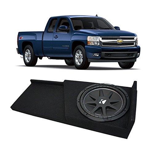 Fits 2007-2013 Chevy Silverado Ext Cab Truck Kicker Comp C10 Single 10 Sub Box Enclosure – Final 4 Ohm