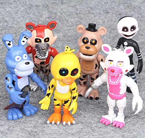 - AG Goodies 6pcs Five Nights at Freddy's Action Figures Toys Dolls Cake Toppers, 4 inches