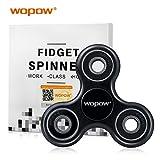 WOPOW Fidget Spinner Toy, Fidget Spinner Hand Spinner Fidget Toy For Sensory Kids and Adult ( Black )