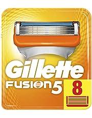 Gillette Fusion 5 ostrza do golenia z ostrzem do trymera i powłoką ślizgową, 8 zapasowych ostrzy