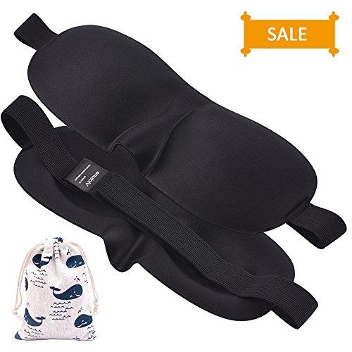 Eye Tears Again (Sleep Mask Pack of 2, 3D Contoured Eye Mask for Sleeping Travel Naps, Lightweight and Comfortable - Best Night Blindfold Eyeshade for Men Women Kids)