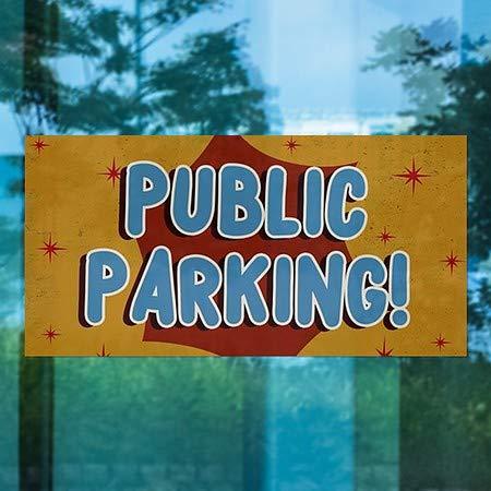 CGSignLab 24x12 Public Parking 5-Pack Nostalgia Burst Window Cling