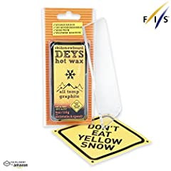 DEYSGRAPHITE Wax, with added graphite for waxing alpine skis, cross-country skis and snowboards, the product of Nordic company Don't Eat Yellow Snow, it is a GRAPHITE ALLTEMP model (catalogue number 0406), in a solid of a net weight equal 11...