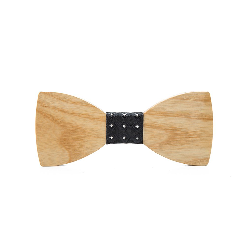 Bowtie Handmade Customized Solid Wood Bow Tie Creative Wedding Wooden BowTie Necktie with Box
