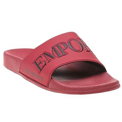 86ec261021d Emporio Armani Zadar Homme Sandales Rouge  Amazon.fr  Chaussures et Sacs